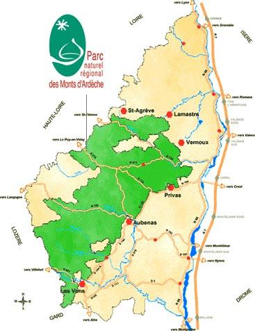 Cevennen Karte.Ardeche Die Ardeche Region In Südfrankreich Mit Ferienhaus Ardeche